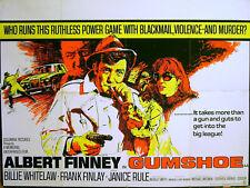 GUMSHOE 1971 Albert Finney, Billie Whitelaw, Frank Finlay UK QUAD POSTER #B
