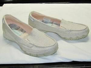 SKECHERS Relaxed Fit Air Cooled Memory Foam Slip On Shoes Womens Size 8 Natural