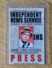Night Stalker Identification Badge-Carl Kolchak Press Costume Cosplay Style C