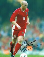 Signed John Hartson Wales Autograph Photo Luton Arsenal Celtic West Ham