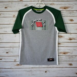 Nascar Mens  Dale Jr 88 Green Gray T-Shirt Sz XL EUC