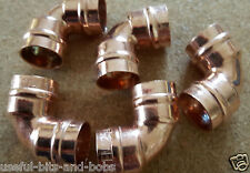 15mm x five Elbow 90 degree Copper Solder Ring Yorkshire Plumbing Fittings New 5
