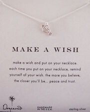 """Dogeared """"Make a Wish"""" reminder 18' Sterling Silver Love Struck Heart""""  Necklace"""