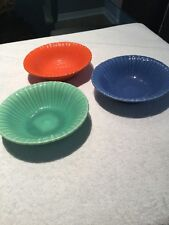 """Stangl Colored Fruit Plates 6"""" Lot Of Three"""