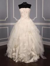 AUTHENTIC Vera Wang Ophelia X Ivory Lace NEW Wedding Dress 8 RETURN POLICY