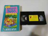 WINNIE THE POOH APRENDE COMPARTIENDO CON TUS AMIGOS - VHS TAPE CINTA CASTELLANO