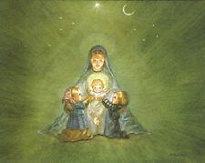 RARE Tasha Tudor Vintage Irene Dash Christmas Card in MINT condition shown