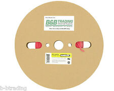 """100 FT Roll 1/16"""" ID 1.5mm ThermOsleeve Red Polyolefin 2:1 Heat Shrink Tubing"""