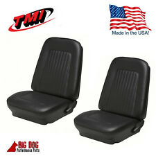 1967 - 1968 Camaro Front Bucket Seat Upholstery Black Vinyl Seat Covers, by TMI