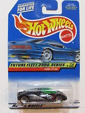 HOT WHEELS 2000 FUTURE FLEET 2000 FORD GT - 90 BLACK W/ WIRE WHEELS