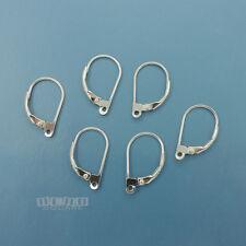 6PC Sterling Silver Lever Back Ear Wires Earrings w/Open Loop 11 x 18mm #33503