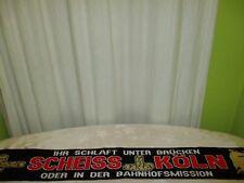 """Mönchengladbach,Düsseldorf Anti Köln Schal """"IHR SCHLAFT UNTER BRÜCKEN SCHEISS"""""""