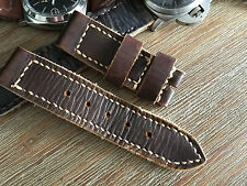 24mm Leather watch strap .Handmade ,cow hide  .Panerai,AMMO ,vintage style.