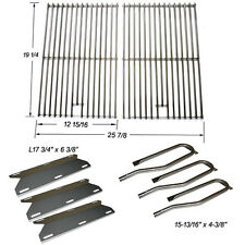 Jenn Air Gas Grill 720-0336 Replacement Burners,SS Heat Plates&Cooking Grid