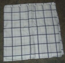 Fabric Remnant Wamsutta White Navy Blue Squares Sheer 5 Yds 44 Inches Wide