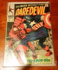 Daredevil Issue #43, August 1968 Featuring Captain America
