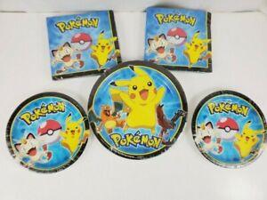 Pokémon Birthday Party Kit Decorations Supplies Set Plates Napkins Pikachu Kids