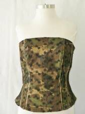 Sexy TRIPP NYC Torrid Black Lace on Camo Military Goth Steam Punk Corset~0=L/XL