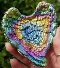 STUNNING RARE BISMUTH ANGEL WINGS HEAVY. CRYSTAL HEALING,