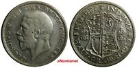 Great Britain George V Silver 1930 1/2 Crown LOW MINTAGE SCARCE DATE KM# 835