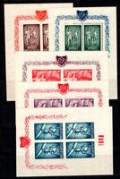 Rumänien 1948 Mi. 1171-1175 Block 100% Postfrisch Olympische Spiele, Sport