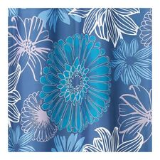 Interdesign #66320 Sketched Floral Shower Curtain