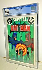Batman Special #1, CGC 9.4, White Pages