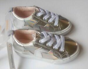 Gymboree  Metallic Star Sneakers ShoesToddler Girl Size 9 New