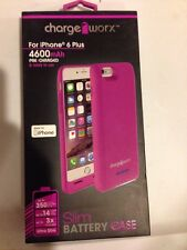 Chargeworx CX7004VT Slim Battery Case, Purple For use with iPhone 6 Pl