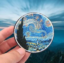 Starry night iron on patch  - Art painting Vincent van Gogh embroidery patches