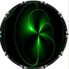"""20"""" Custom Bass Kick Drum Front Head Graphic Graphical Spiral 26"""