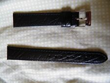 16 mm Leather Strap Goatskin Genuine Black New