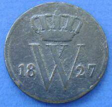 1827 Nederland - The Netherlands 1 cent 1827 U  Willem 1. KM# 47