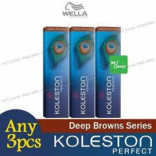 3 x Wella Koleston Perfect Permanent Hair Color Dye 60g Deep Brown