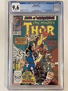 Thor #412 (1989) - CGC 9.6  [1st Appearance of The New Warriors]