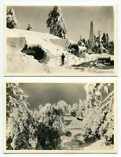 "Three Vintage ""MT WILSON"" Postcards: HOTEL, MIDWINTER, ECHO ROCK [Calif]"