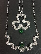 Patented Convertible 2 in 1 Changeable Clover Shamrock Pendant Necklace