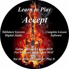 Accept Guitar TABS Lesson CD 108 Songs + Backing Tracks + BONUS!