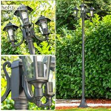 Wege Lampen Kandelaber matt schwarz Aussen Steh Leuchten Garten Klarglas Laterne