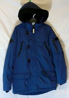 Boys Next Blue Borg Fleece Lined Padded Hooded Winter School Coat Age 7 Years