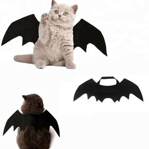 Bat Wings Costume Halloween Cosplay Dress-Up for Small Cat Kitten Puppy Pet Dog