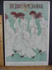 Rare Antique Original VTG 1903 Ladies Home Journal Fashion Cover Only Art Print