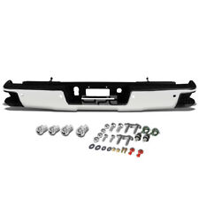 Fit 14-17 Silverado/Sierra Chrome Rear Bumper With Step Pad+Parking Sensor Holes