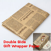 Wrapping Paper Wrap Gift Wrap Double Sided Christmas Kraft Paper Vintage、Ne FE
