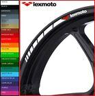 LEXMOTO Wheel Rim Stickers Decals - 20 Colours Available - venom milano lxr 125