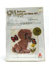Latch Hook Kit Deluxe Latch an Idea Playfull Puppy Vintage Columbia Minerva 1979