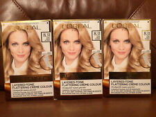 3 x L'Oreal Excellence Age Perfect 8.31 Pure Beige Blonde Hair Dye X3