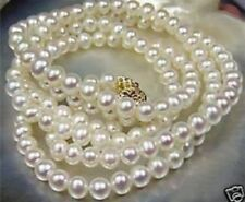 Beautiful!7-8mm White Akoya Cultured Pearl Necklace 18-100 inches