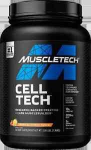 Muscletech, Cell Tech, Creatine + Carb Musclebuilder, Tropical CItrus 3lb