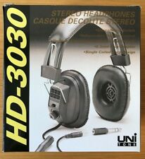 UNITONE HD-3030 Dynamic Stereo Headphones Stereo/Mono Switch and Volume Control